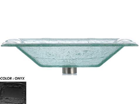 rectangular clear glass vessel sinks rg rectangular glass vessel onyx rgw las07 onyx