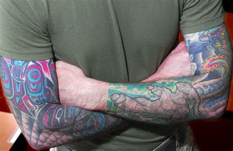 usmc tattoo policy quarter sleeve marines new tattoo policy will be more flexible but won