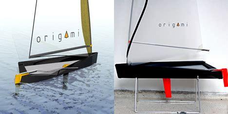 origami boat flat origami boat by matteo signorini yanko design