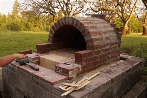 backyard pizza oven diy diy an outdoor pizza oven doityourself com