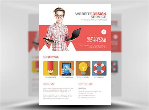 design a flyer template flat style web designer flyer template flyerheroes