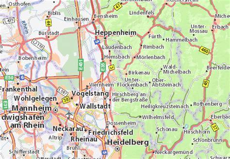 Auto Mieten Weinheim by Karte Stadtplan Weinheim Viamichelin