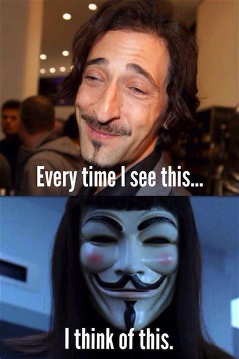 Adrien Brody Meme - adrien brody v for vendetta mask