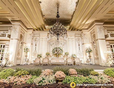 layout ballroom shangri la jakarta wedding stage lightworks