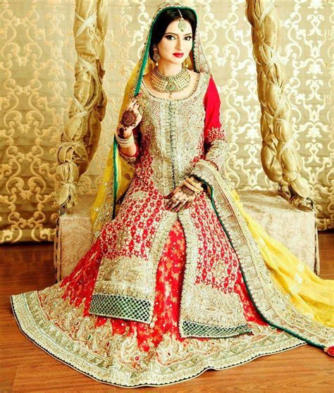 Bridal Wear Orange Indian Wedding Dress Fashion By Soma Sengupta