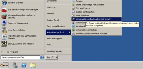 ssrs sle reports 2008 r2 configuring firewall settings for sql server reporting