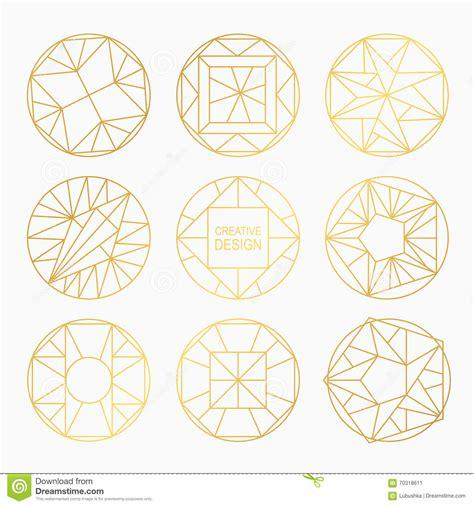 geometric designs using circles vector geometric shapes stock vector image 70318611