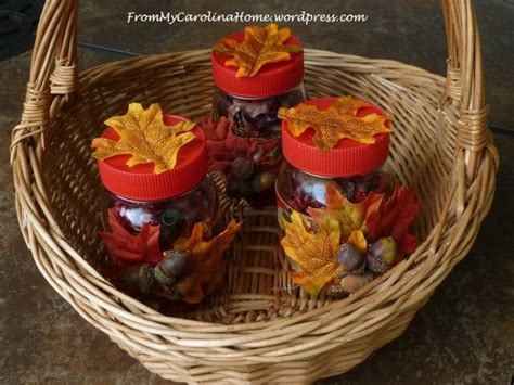 fall themed table decorations autumn themed jar table centerpieces favecrafts