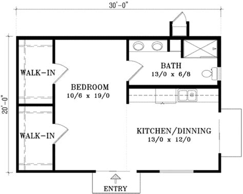 600sft floor plan cottage style house plan 1 beds 1 baths 600 sq ft plan