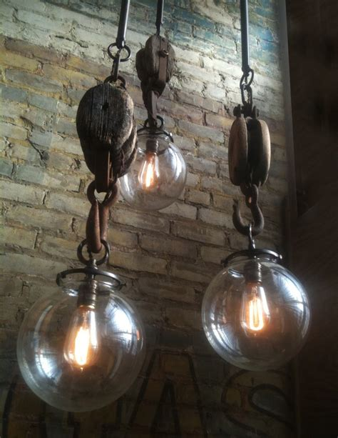 Repurposed Lighting Fixtures Diy Rewire On Pulley Electrical Wiring And Pulley Light