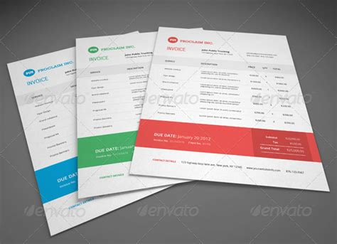 37 Best Psd Invoice Templates For Freelancer Web Graphic Design Bashooka Graphic Design Invoice Template Indesign