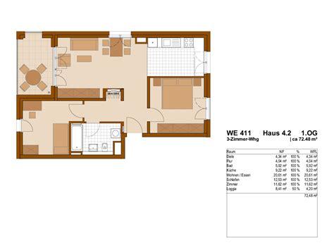 3 Zimmer Wohnung 2 Ba Dacore