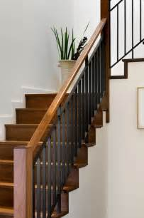 Stair Banister And Railings by Hillside Residence Hanover Nh Contemporary Staircase