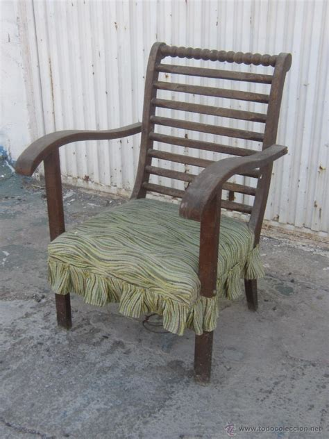 sillon de madera antiguo  restaurar comprar sillones antiguos en todocoleccion