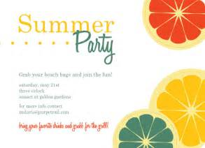 summer invitations theruntime