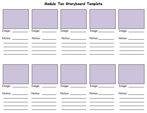40 professional storyboard templates exles