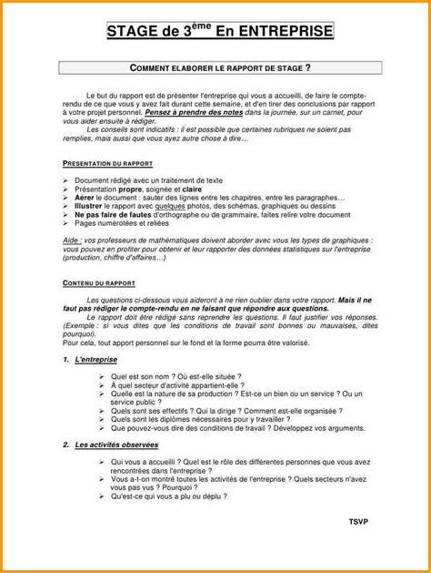 Exemple De Lettre Biographique 6 Rapport De Stage 3eme Lettre Administrative