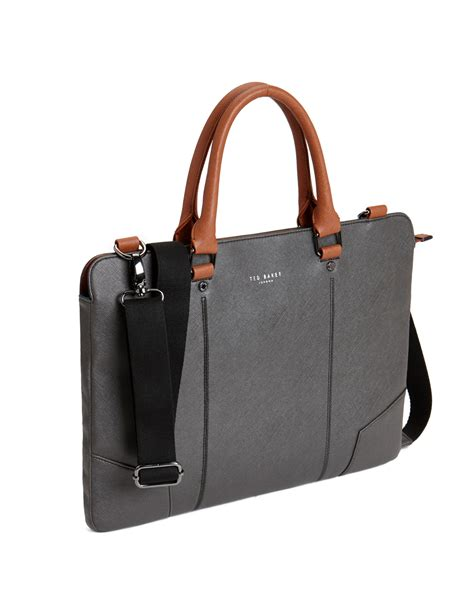 bags for lyst ted baker contrast handle document bag in black for