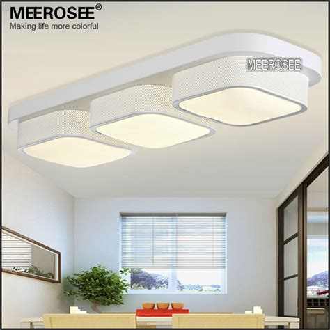 acrylic modern led ceiling light fixture for kitchen top