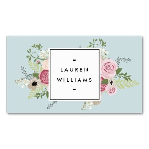 business card template free word roses vintage pink roses on mint antique blue business card