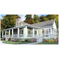one story house plan with wrap around porch eurohouse
