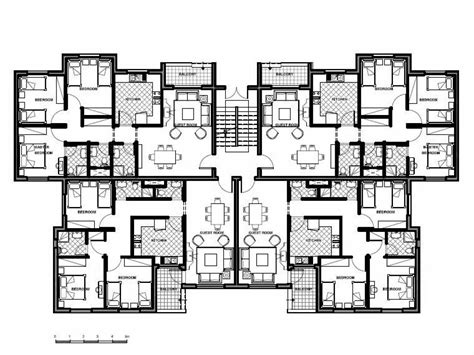 12 unit apartment building plans 4 storey residential building floor plan modern house