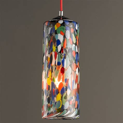 Drum Lamp Shades For Chandeliers Colorful Glass Cylinder Pendant Light Shades Of Light