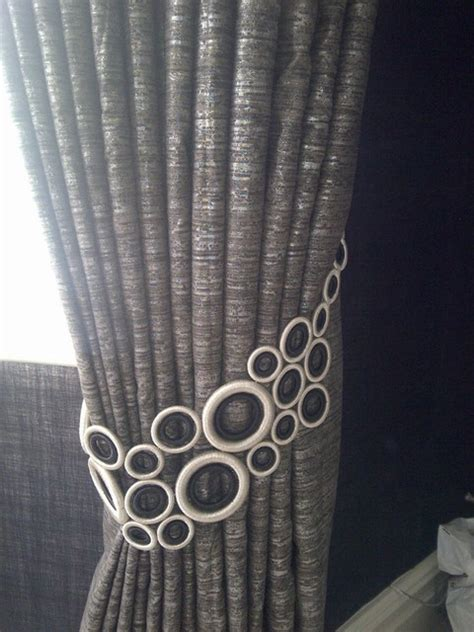 drapery tie backs ideas window treatments curtain poles and tie backs
