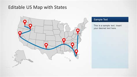 map templates for powerpoint us map template for powerpoint with editable states