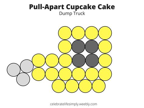 pull apart cupcake cake templates dump truck pull apart cupcake cake template cupcake