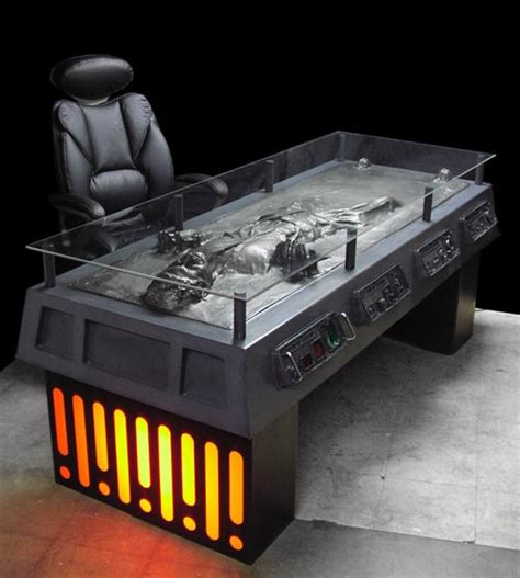 awesome desks the han solo in carbonite desk