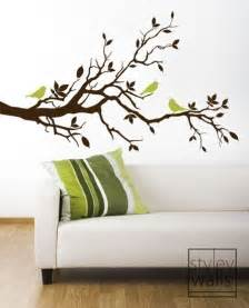 Wall Stickers Branches Tree Branch Wall Decal Love Birds On Branch With By