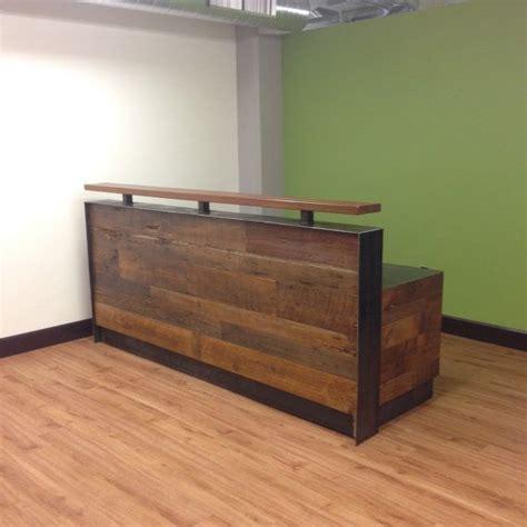 reclaimed wood front desk best 25 front office ideas on pretty l