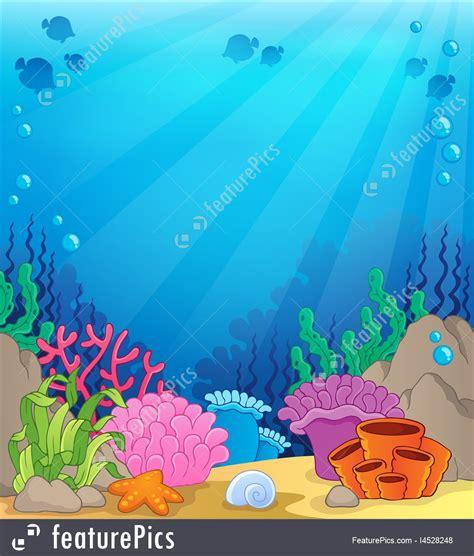 Floor Plan Creator Free by Ocean Underwater Theme Background 4 Stock Illustration