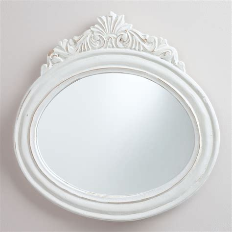 white framed oval bathroom mirror white oval adella mirror traditional wall mirrors by