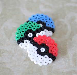 pokeball perler 5 space invaders neon perler bead magnet set