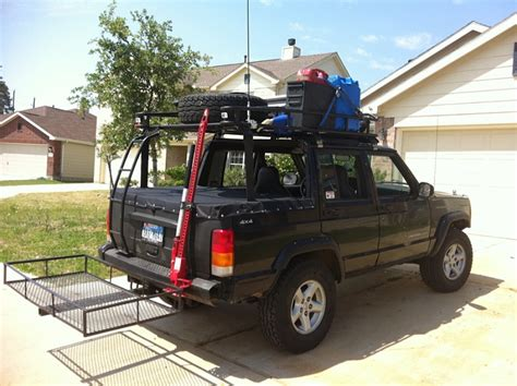 size rack on chopped xj with ladder jeep