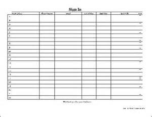 Client Sign In Sheet Template by Free Easy Copy Detailed Appointment Sign In Sheet Wide