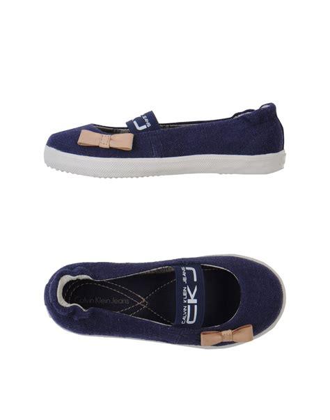 calvin klein shoes flats calvin klein ballet flats in blue blue lyst
