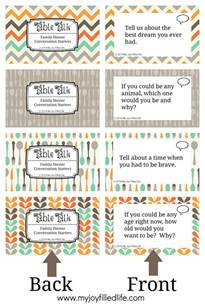 printable family dinner conversation starters cards my