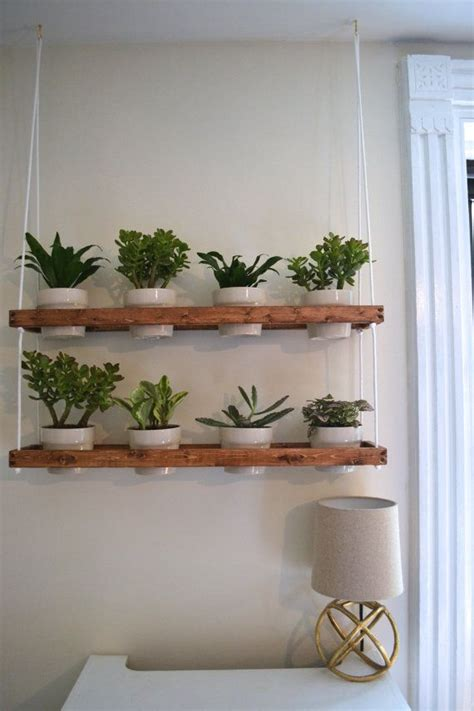 wooden hanging planter   completely hand   youd