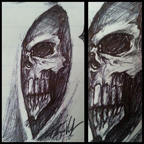 quick pen sketch grim reaper pixel r3ap3r