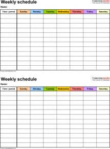template for a schedule free weekly schedule templates for pdf 18 templates