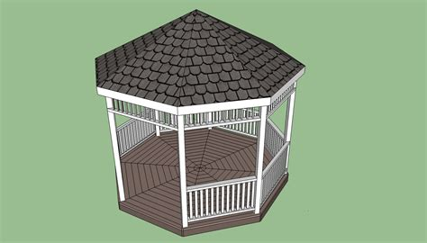 Outdoor Kitchen Blueprints Octagonal Gazebo Plans