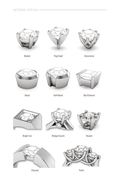 Wedding Rings Types by The Most Beautiful Wedding Rings Wedding Ring Setting Types