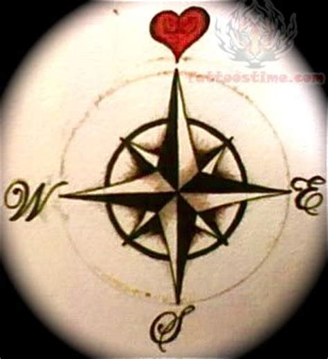 compass tattoo true north heart and compass tattoo