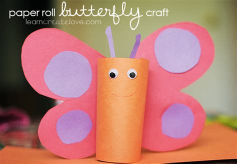 How To Make Butterflies Out Of Construction Paper - paper roll butterfly craft
