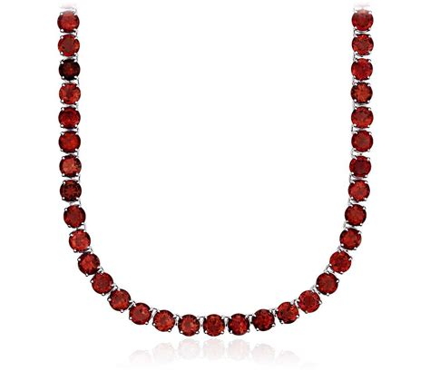 garnet necklace in sterling silver 5mm blue nile
