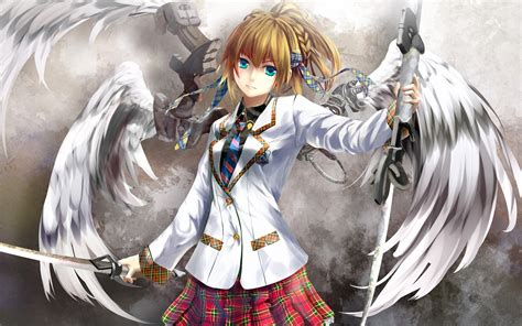 new anime girl wallpaper new anime angel girl sword full hd wallpaper 4755 just