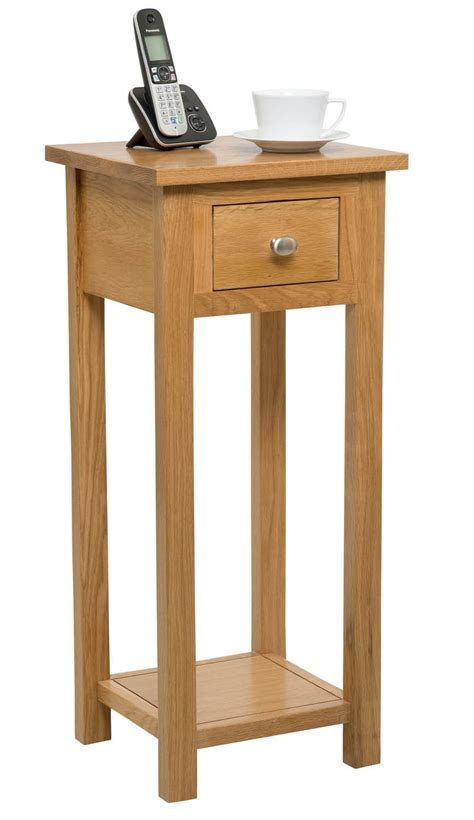 Telephone Console Table Telephone Console Table Kent 1 Drawer Telephone Console Table Buckingham Light Oak Modern